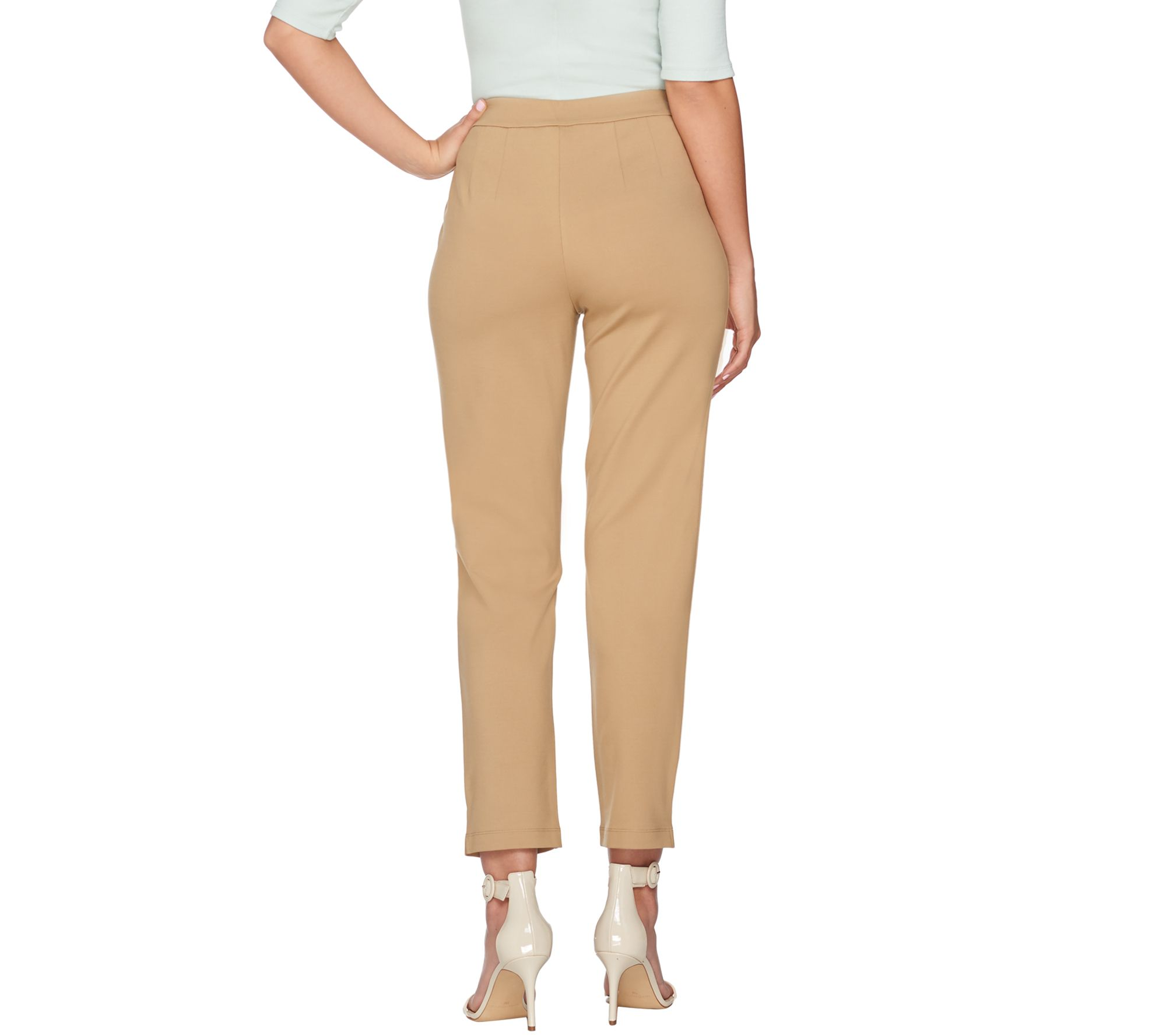 Joan Rivers Signature Ankle Pants Front Seam White 2X NEW A300856