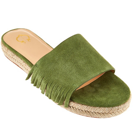 """As Is"" C. Wonder Suede Flat Espadrille with Fringe - Tabitha"