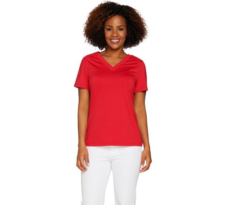 Susan Graver Butterknit Short Sleeve Top