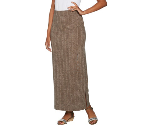 3a4bc9ed29 Lisa Rinna Collection Ribbed Knit Maxi Skirt - Page 1 — QVC.com