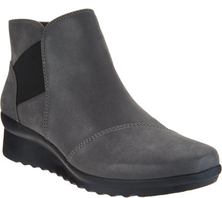 """As Is"" CLOUDSTEPPERS by Clarks Wedge Ankle Boots- Caddell Tropic"
