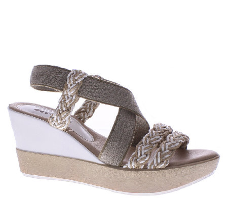 Azura by Spring Step Wedge Sandals - Rosemont