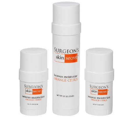 Surgeon's Skin Secret 3-Pc Orange Citrus Moisturizer Twist-Ups