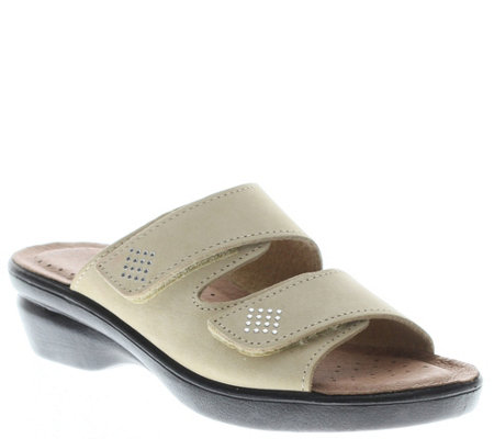 Flexus by Spring Step Leather Slide Sandals - Aditi