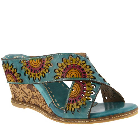L`Artiste by Spring Step Leather Sandals - Enticing