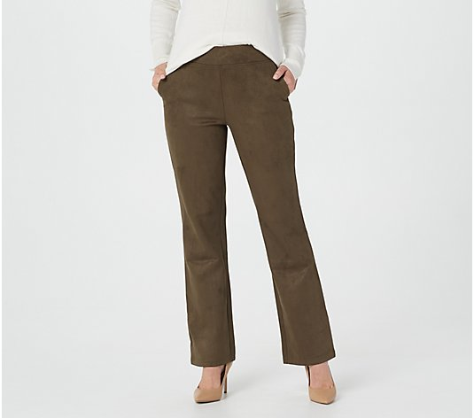 Linea by Louis Dell 'Olio Faux Suede Boot Leg Pant