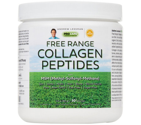 Andrew Lessman Free Range Collagen Peptides w/ MSM 30 Servings