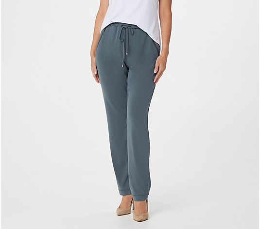Susan Graver Regular Liquid Knit Pull-On Slim-Leg Pants