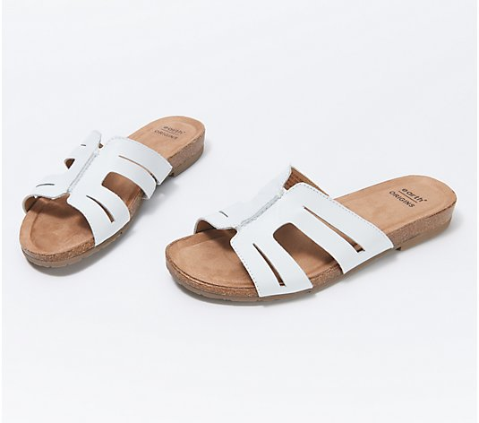 Earth Origins Leather Slide Sandals - Lyndon Leah