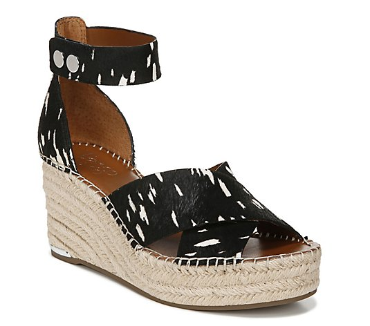 Franco Sarto Calf Hair Wedge Heel Espadrilles -Carma2
