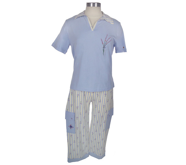 625b673c5 Claire Murray Lavender Medley Cargo Capri Pajama Set. product thumbnail.  Share this Product