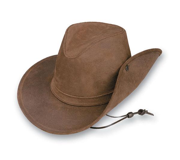 Minnetonka Aussie Side Snap Leather Hat - Page 1 — QVC.com 56f46403df8