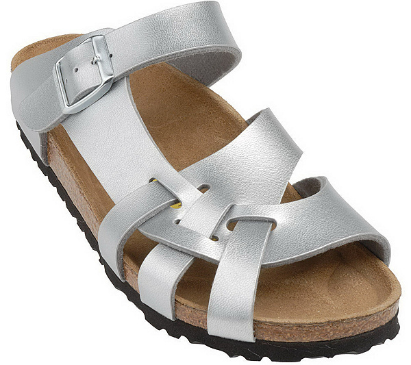 ad86709c742c Birkenstock Patent Curved Cross Strap Comfort Sandals. product thumbnail.  In Stock