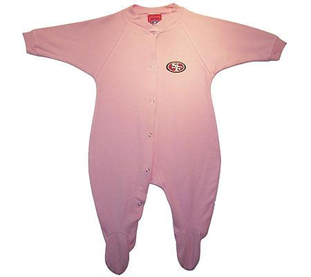 NFL San Francisco 49ers Newborn Girls Cotton Sleeper. product thumbnail. In  Stock cbc288927