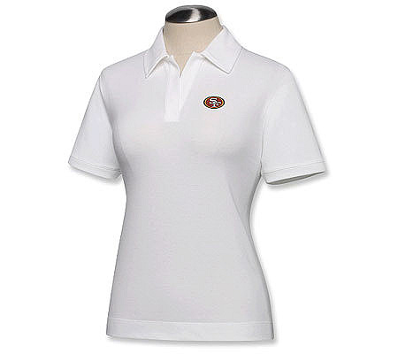 fb70f06784c NFL San Francisco 49ers Women s DryTec White Polo. product thumbnail. Share  this Product