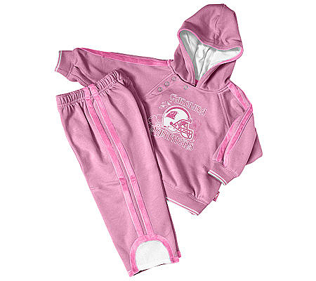 c53af3348 NFL Carolina Panthers Toddler Girls Hooded Fleece Jogging Set. product  thumbnail. In Stock