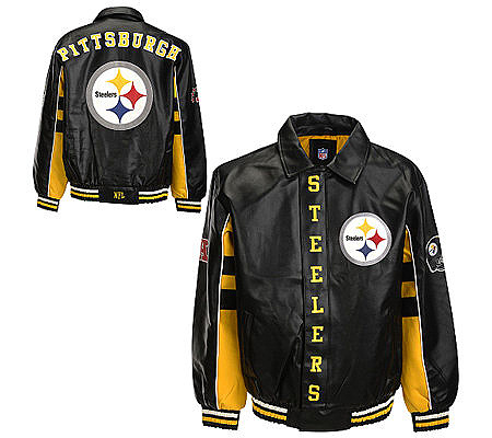 NFL Pittsburgh Steelers Faux Leather Jacket. product thumbnail. In Stock 9dcf92637