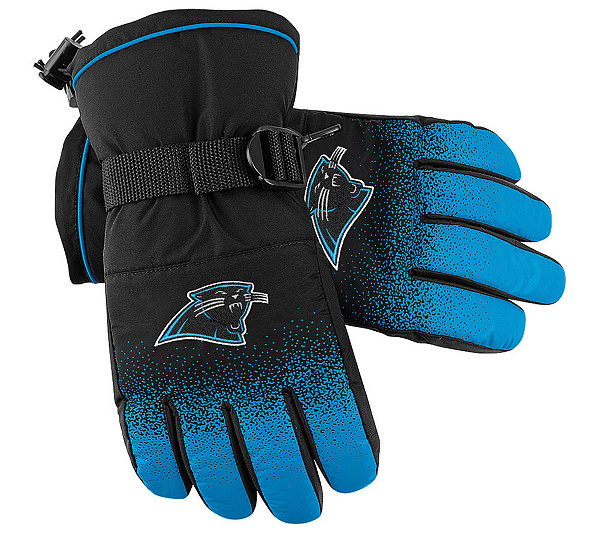 NFL Carolina Panthers 2009 Sideline Player Winter Gloves. product thumbnail.  In Stock bbfbd5ffe
