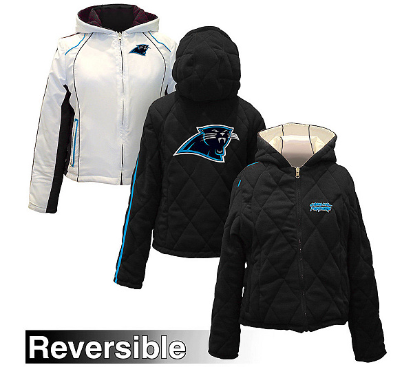 2346dbc56 NFL Carolina Panthers Women s Reversible Full Zip Jacket. product thumbnail.  In Stock