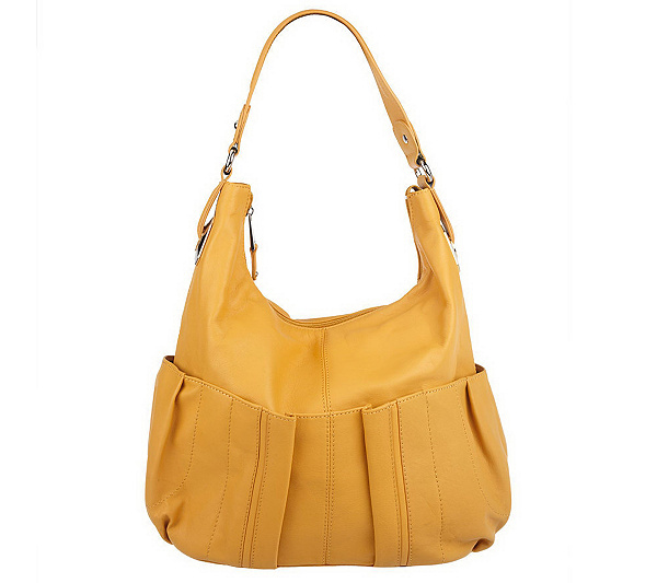 4a40ca2a5a Tignanello Glove Leather Zip Top Hobo Bag with Pleated Design. product  thumbnail. In Stock