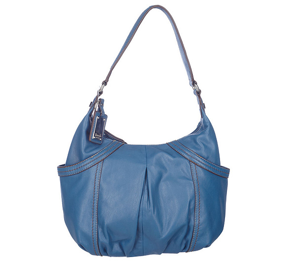 fef46e942c Tignanello Glove Leather Zip Top Hobo Bag with Side Pockets. product  thumbnail. In Stock