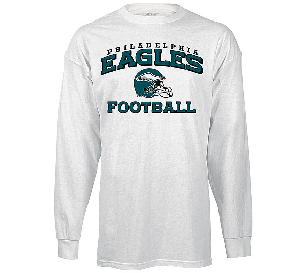 54530df526e NFL Eagles Long Sleeve Stacks T-Shirt - White. product thumbnail. Share  this Product