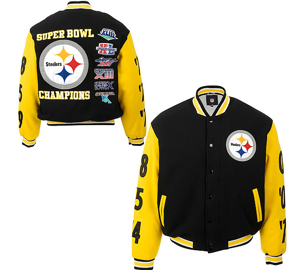 reputable site 1f3f8 d69b4 pittsburgh steelers super bowl jacket
