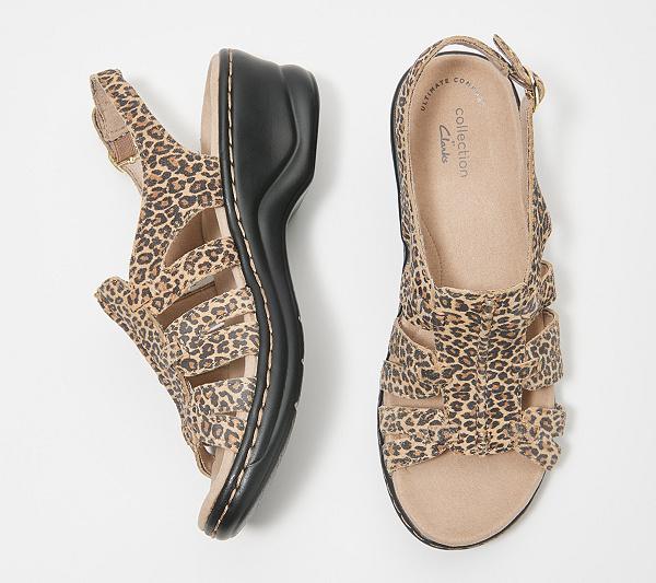 dfa34c32b8d3f Clarks Leather Lightweight Sandals - Lexi Marigold - Page 1 — QVC ...