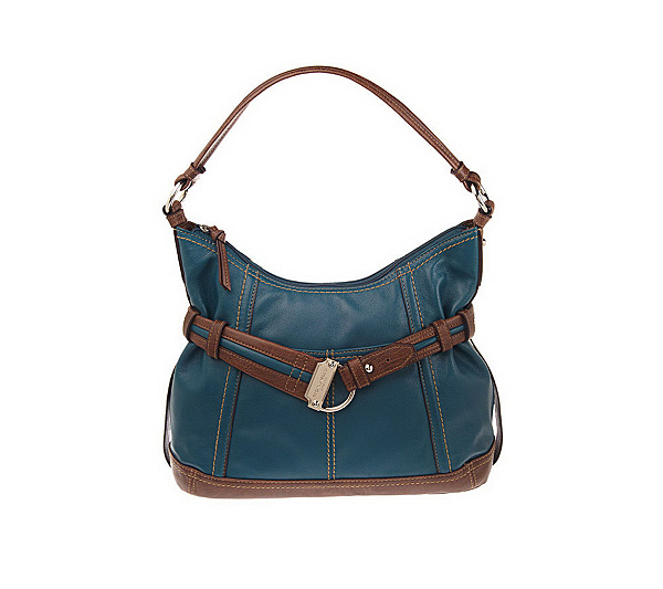 9be5cf9c26 Tignanello Glove Leather Belted Cinched Hobo Bag. product thumbnail. In  Stock