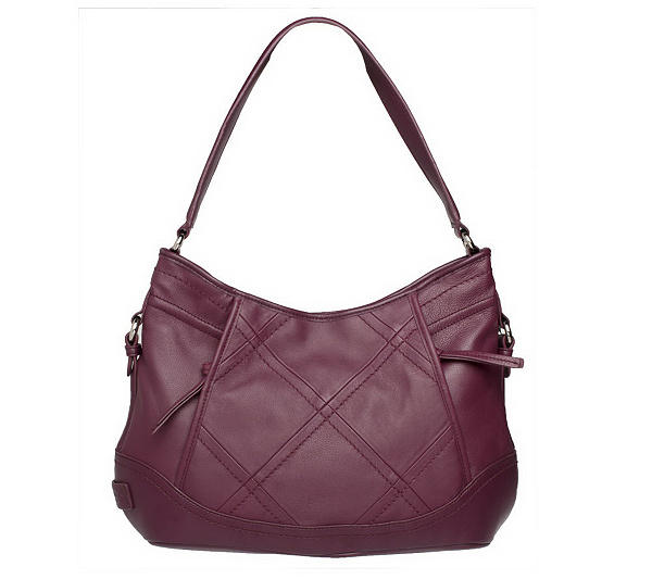 b33d213932 Tignanello Glove Leather Hobo Bag with Stitching - Page 1 — QVC.com
