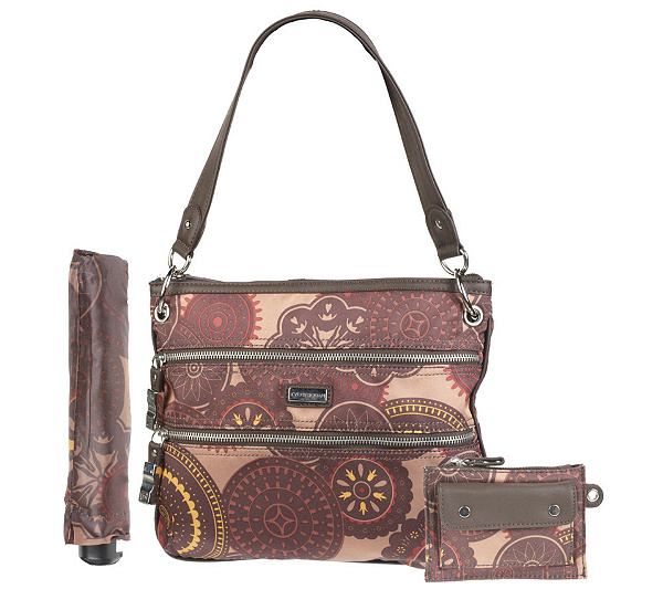 b94821c02dcf Tyler Rodan Printed Crossbody Bag with Umbrella - Page 1 — QVC.com