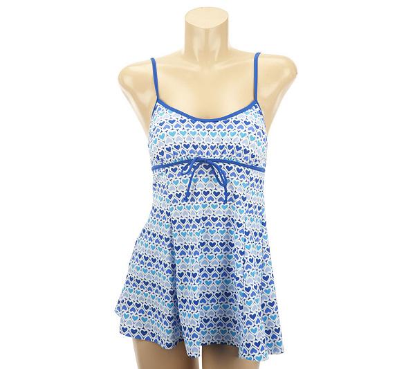 8e52a5a62e72e Fit 4 U Thighs Lots of Love Drawstring Swim Dress. Back to video