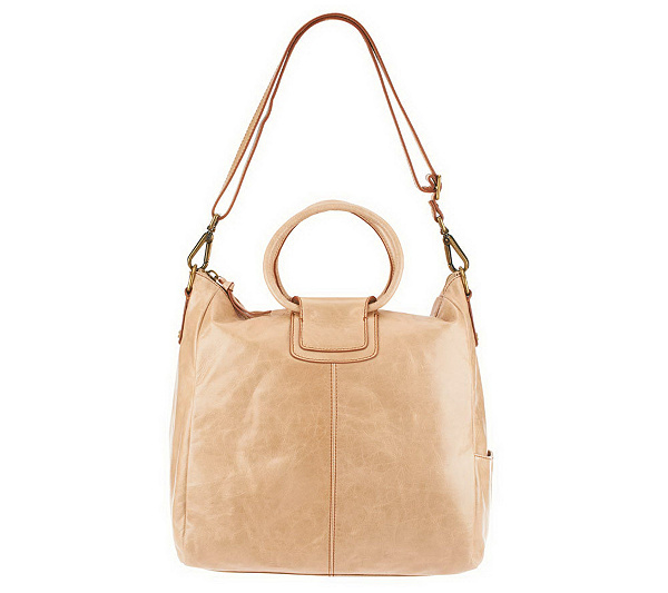 ebb50ff80378 Hobo Vintage Leather Sheila Double Handle Tote w  Crossbody Strap. Back to  video