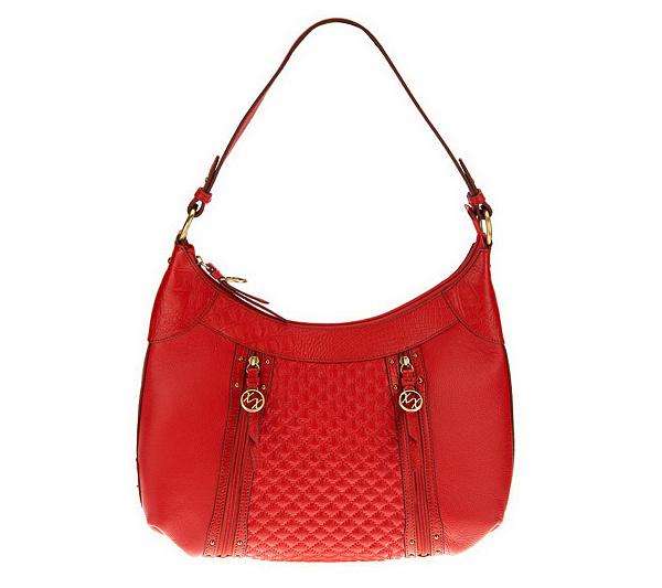 c432c2c9c3 Maxx New York Pebble Leather Hobo Bag with Croco Leather Trim ...