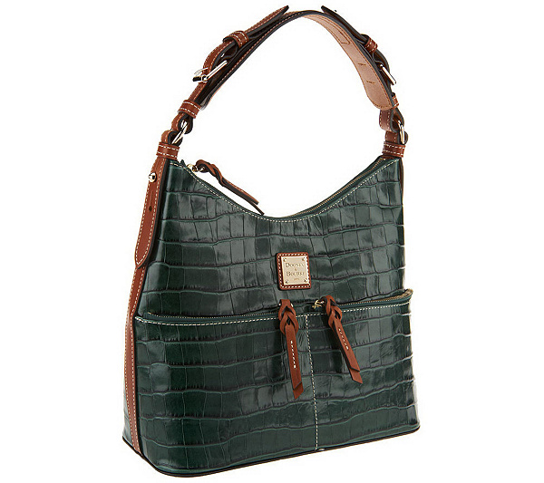 1925712f8e Dooney   Bourke Croco Leather North South Zipper Hobo - Page 1 ...