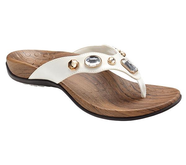 3c2d7746859ef4 Vionic Orthotic Embellished Thong Sandals - Eve - Page 1 — QVC.com
