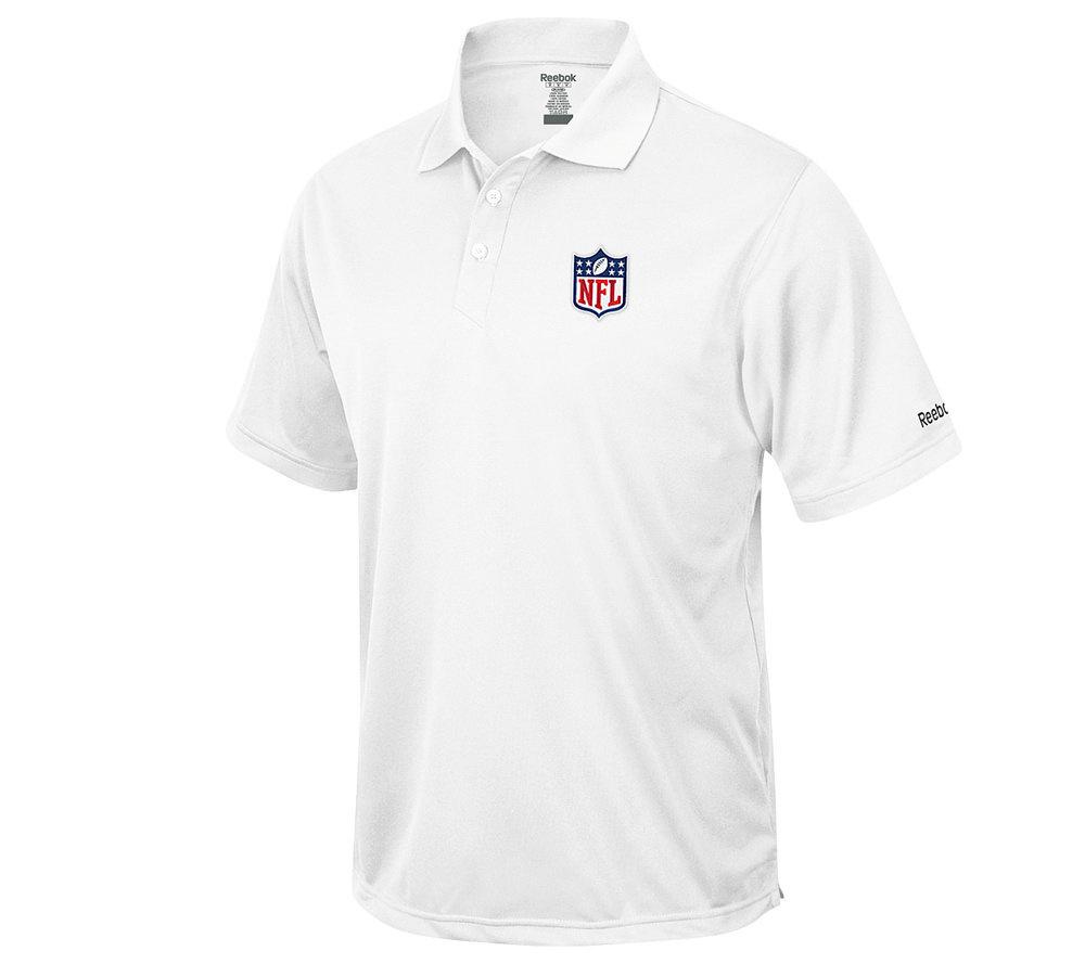Nfl Shield Short Sleeve Speedwick Polo White Qvc Com