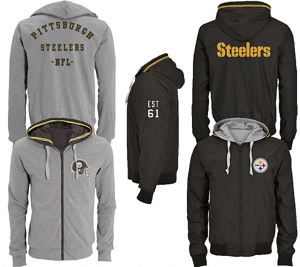 NFL Pittsburgh Steelers Men s Big   Tall Reversible Jacket. product  thumbnail. In Stock a809d8211