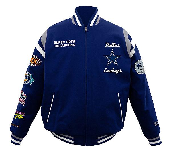 NFL Dallas Cowboys 5X Super Bowl Champions Cotton Twill Jacket ... 5b5841757
