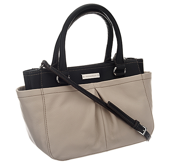 bad75272c64e Tignanello Pebble Leather Two-Tone Mini Satchel w  Shoulder Strap. Back to  video
