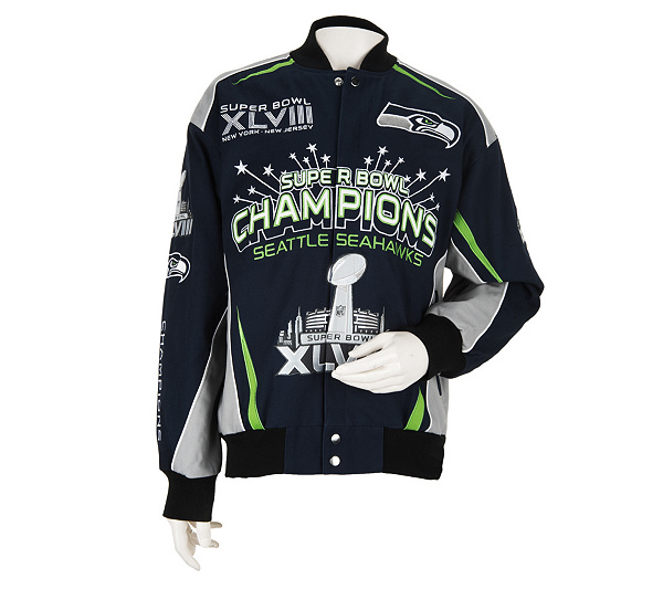 1d72a1ac4 Seattle Seahawks Super Bowl XLVIII Champion Twill Jacket. Back to video