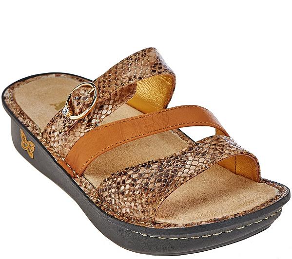 6c4c273f3fd90 Alegria Leather Slide Triple Strap Sandals - Colette - Page 1 — QVC ...