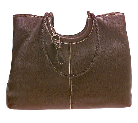3b36dc352a Etienne Aigner Pebble Leather Tote with Woven Leather Trim. product  thumbnail. In Stock