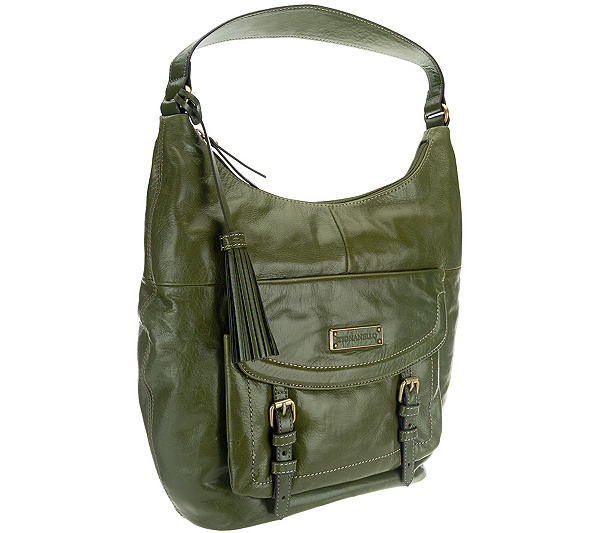Tignanello Distressed Vintage Leather Hobo with Buckle Accents. Back to  video 27f3566c1a405