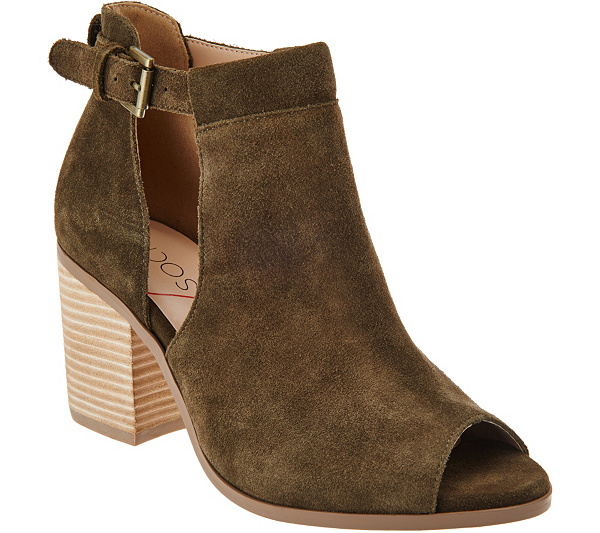 Sole Society Suede Peep-Toe Ankle Boots - Ferris sale get to buy reliable cheap online cheap reliable discount huge surprise fE5wu
