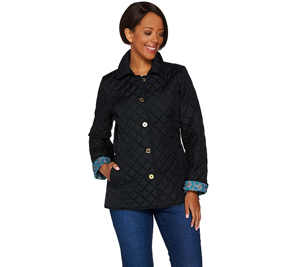 As Is C Wonder Water Resistant Quilted Barn Jacket Page 1 Qvc