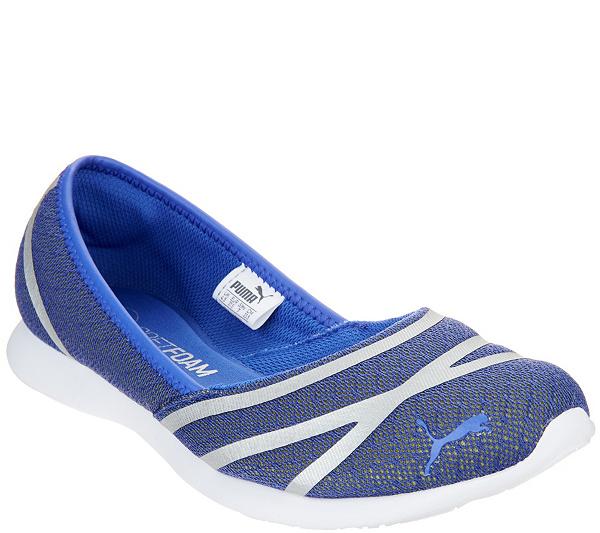 89b3df231a76e8 PUMA Mesh Slip-On Ballet Sneakers - Vega Ballet Mesh - Page 1 — QVC.com