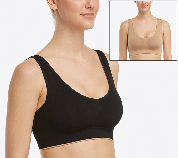 36af880056419 Spanx Seamless Reversible Bra - Page 1 — QVC.com