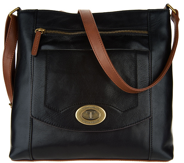 As Is Tignanello Vintage Leather Crossbody Page 1 Qvc