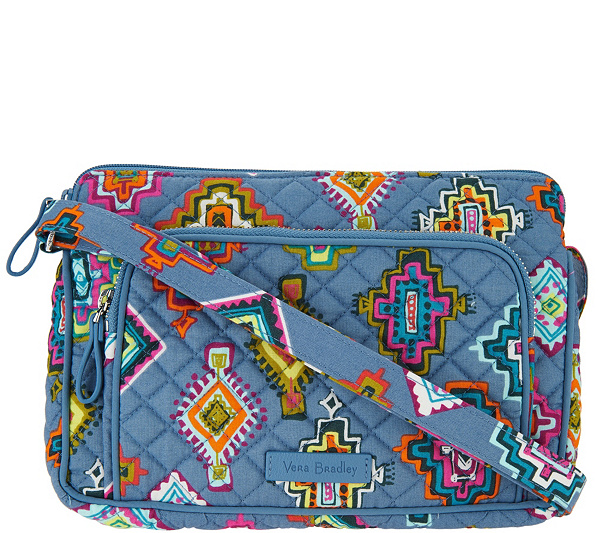 930c0d90598 Vera Bradley Signature Print Iconic RFID Little Hipster Crossbody Bag. Back  to video